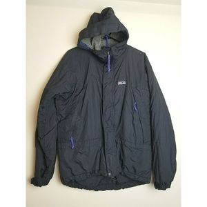Patagonia Fleece Jacket S Black Hood Heavy Weight
